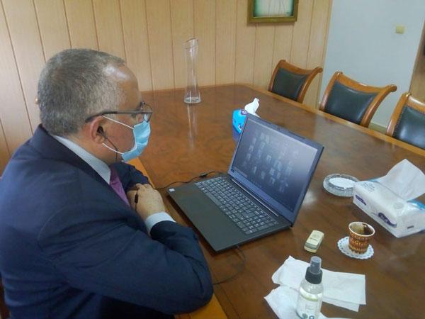 وزير الري يجتمع بوكلاء الوزاره في جميع المحافظات