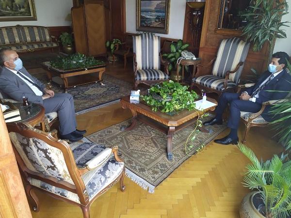 عبد العاطي وصبحي يبحثا أوجه التعاون المشترك بين الوزارتين