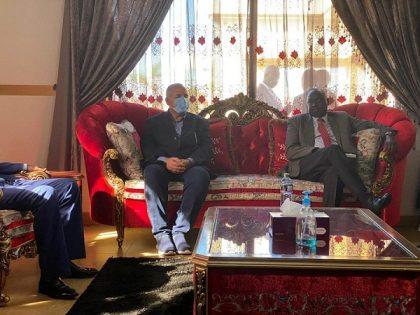 وصول وزير الري والوفد المرافق له لدوله جنوب السودان