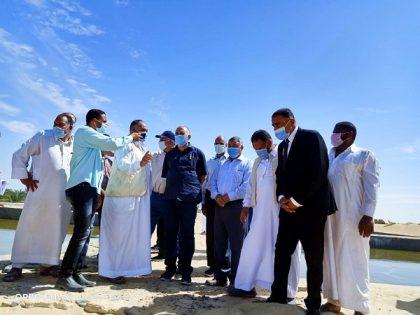 وزير الري يقوم بزيارة واحة سيوة لمتابعة أهم المشروعات المنفذة