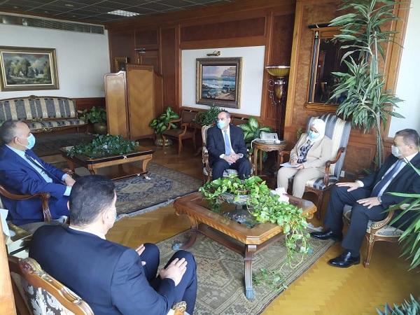 وزيرا الري والطيران المدني يبحثان أوجه التعاون المشترك