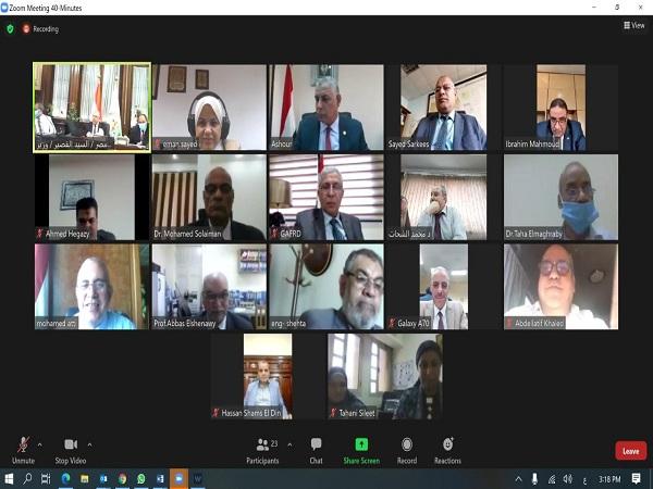 اجتماع اللجنة العليا المشتركة لوزارتى الرى و الزراعة