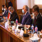 د/ محمد عبد العاطي يبحث موقف مفاوضات سد النهضة مع المبعوث الامريكي السفير دونالد بوث